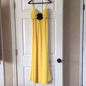 Dresses & Skirts - NWOT Floor length Dress with padded top and Bow